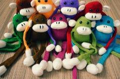 Handgemacht, Affe, guten Rutsch ins Neue Jahr 2016, lustiges Tier Lizenzfreie Stockfotos