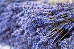Handgemachte Bündel des Lavendels Stockfoto