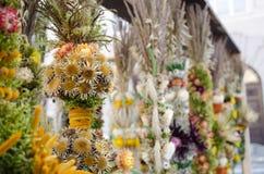 Handgemachte Blumenpalme traditionellen Ostern-Dekors angemessen Lizenzfreie Stockbilder