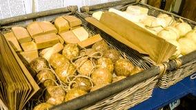 Handgemachte botanische Seifen, rustikales Geschäft lizenzfreies stockbild