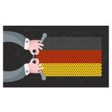 Handgemachte Flagge des Deutschen. Lizenzfreies Stockfoto