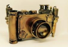 handgemachte Fotokamera der Weinlese Stockbild
