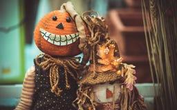 Handgemachte furchtsame Halloween-Puppen-Idee lizenzfreies stockbild