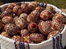 Handgemachte gemalte Eier Lizenzfreie Stockfotos