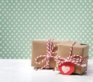 Handgemachte Geschenkboxen Lizenzfreies Stockfoto