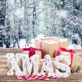 Handgemachte Geschenkboxen Stockfotografie