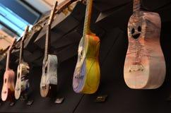 Handgemachte Gitarren, Guimaraes, Portugal Lizenzfreie Stockfotos
