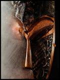 Handgemachte hölzerne Maske von Ghana lizenzfreies stockfoto
