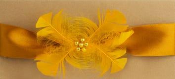 Handgemachte Hochzeitskarte Lizenzfreies Stockbild