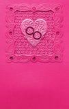 Handgemachte Hochzeitsluxuxkarte Lizenzfreies Stockfoto