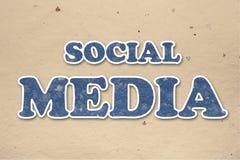 Handgemachte insciption Socialmedia Stockfotos
