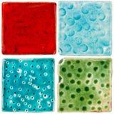 Handgemachte Keramikfliesen Lizenzfreies Stockfoto