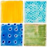 Handgemachte Keramikfliesen Lizenzfreies Stockbild