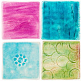 Handgemachte Keramikfliesen Stockbild