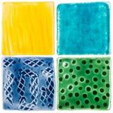 Handgemachte Keramikfliesen Stockfotografie