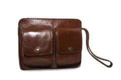 Handgemachte Lederhandtaschen lizenzfreie stockbilder
