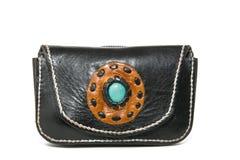 Handgemachte Lederhandtaschen Stockfotografie