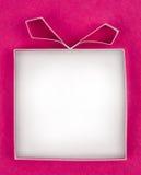 Handgemachte leere Geschenkbox stockfotos
