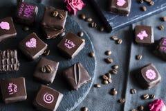 Handgemachte Luxusschokolade Lizenzfreie Stockfotos