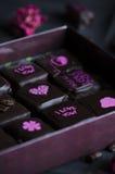 Handgemachte Luxusschokolade Stockfotos