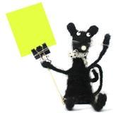 Handgemachte Mäusenadelanzeige Lizenzfreie Stockbilder