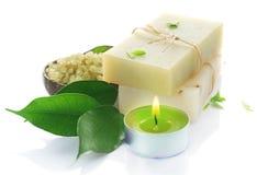 Handgemachte natürliche Seife stockfoto