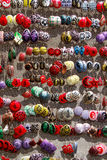 Handgemachte Ohrringe Stockbild