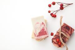 Handgemachte organische Seife Stockbilder