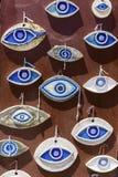Handgemachte Perlen des bösen Blicks gemacht von der Keramik Stockfotografie