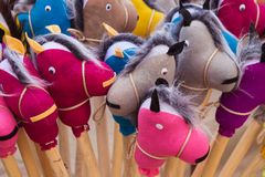 Handgemachte Pferdespielwaren lizenzfreies stockfoto