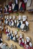 Handgemachte Puppen am Kaziukas Markt Lizenzfreie Stockfotografie