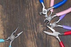 Handgemachte Schmuckwerkzeuge Stockbilder