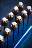 Handgemachte Schokoladen mit Kastanie Lizenzfreie Stockfotos