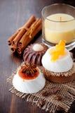 Handgemachte Seife des Kaffees und der Schokolade stockbilder