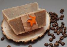 Handgemachte Seife machte mit Liebe stockfoto