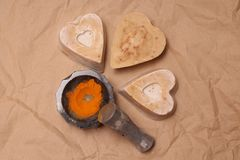 Handgemachte Seife machte mit Liebe stockbild