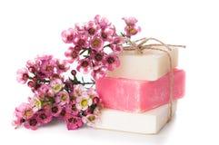 Handgemachte Seifen- und Kirschblüten Lizenzfreies Stockbild