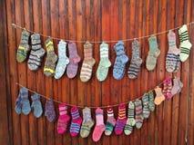Handgemachte Socken Lizenzfreies Stockbild