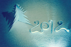 Handgemachte Symbole des neuen Jahres Stockbilder