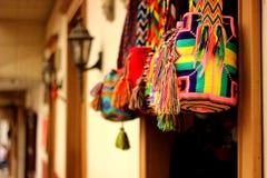 Handgemachte Taschen in Antioquia Stockfotografie