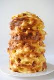 Handgemachte traditionelle baumkuchen die Torte, die über Feuer gebacken wird Stockfotos