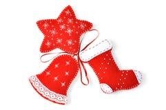 Handgemachte Weihnachtsverzierungen Lizenzfreie Stockfotos