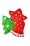 Handgemachte Weihnachtsverzierungen Lizenzfreie Stockfotografie