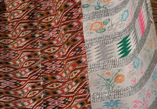 Handgemachte Wolldecke Traditionelle woolen handgemachte Wolldecke Lizenzfreie Stockbilder