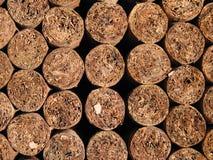 Handgemachte Zigarren, die Muster rollen Lizenzfreie Stockfotografie