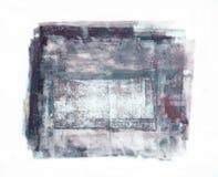 Handgemachter abstrakter kratziger Flecken lokalisiert auf weißem Hintergrund stockfotografie