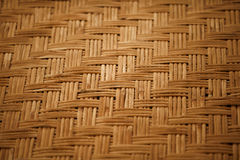 Handgemachter Bambusmattenhintergrund Stockbild