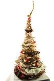Handgemachter Baum des neuen Jahres Stockfoto