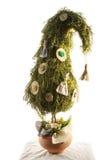 Handgemachter Baum des neuen Jahres Lizenzfreies Stockfoto