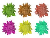 Handgemachter dekorativer Blumen-Satz Stockfoto